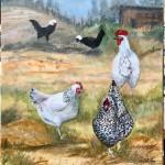 les poules de Lyam et Gabriel peintes lors du confinement
